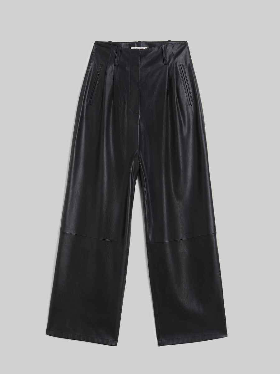 Pantalon de piel sintetica suave
