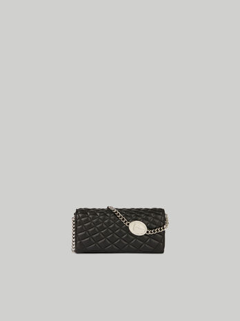 Daisy purse in quilted faux leather