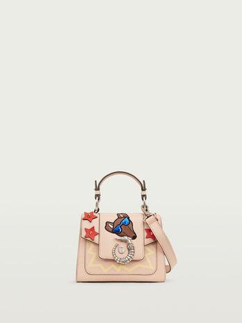 Lovy Bag mini in crespo pelle con emoticon Levriero