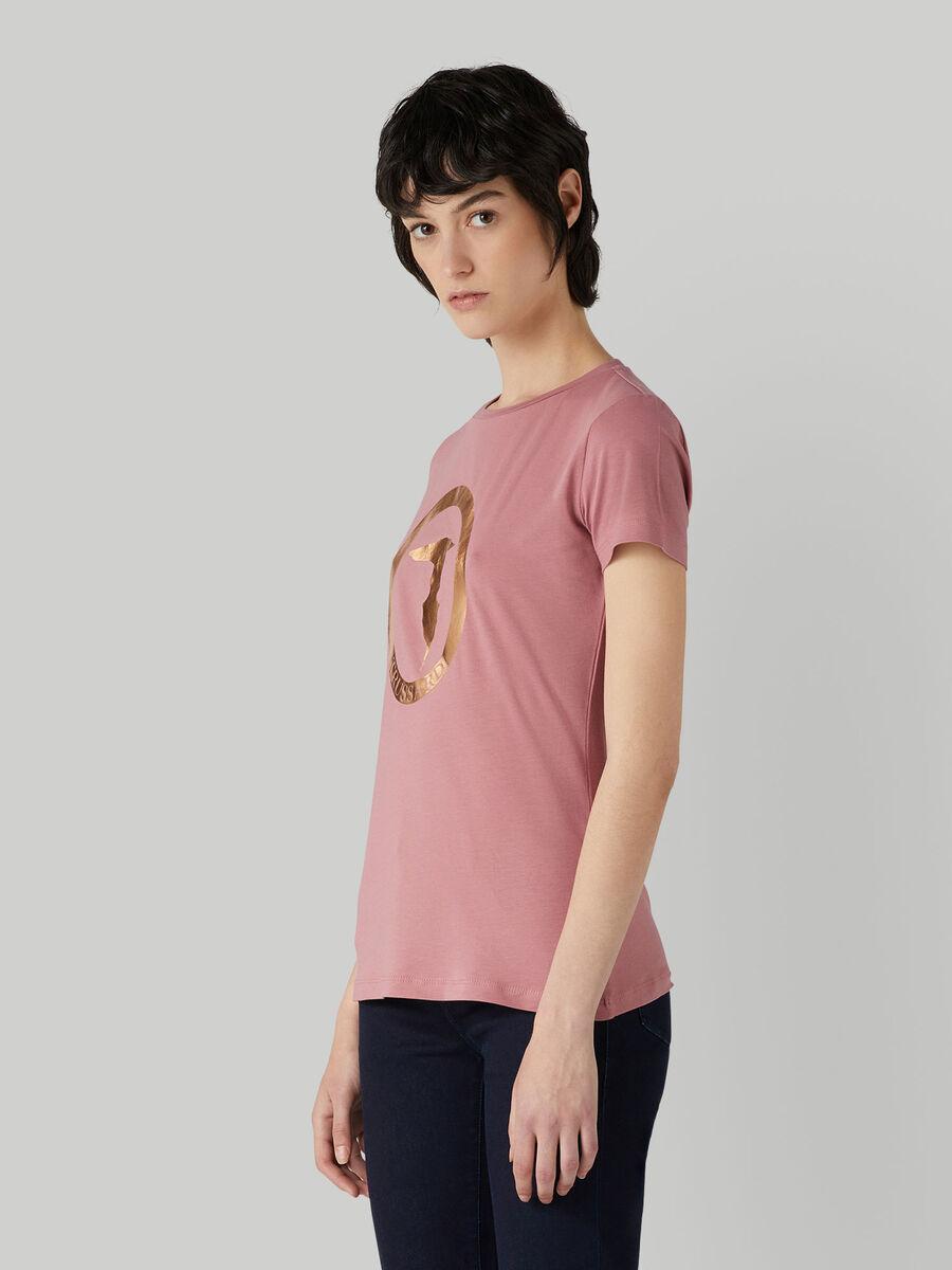 T-shirt coupe classique en jersey stretch a logo