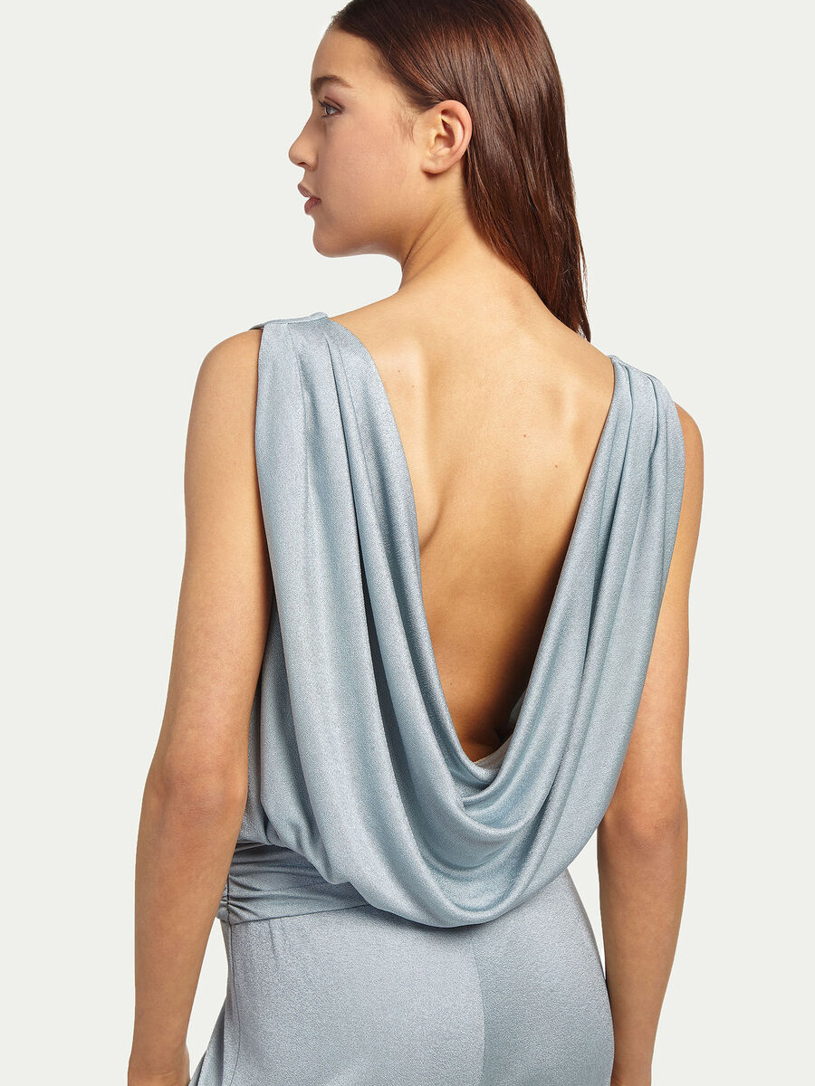 Robe combinaison drapee