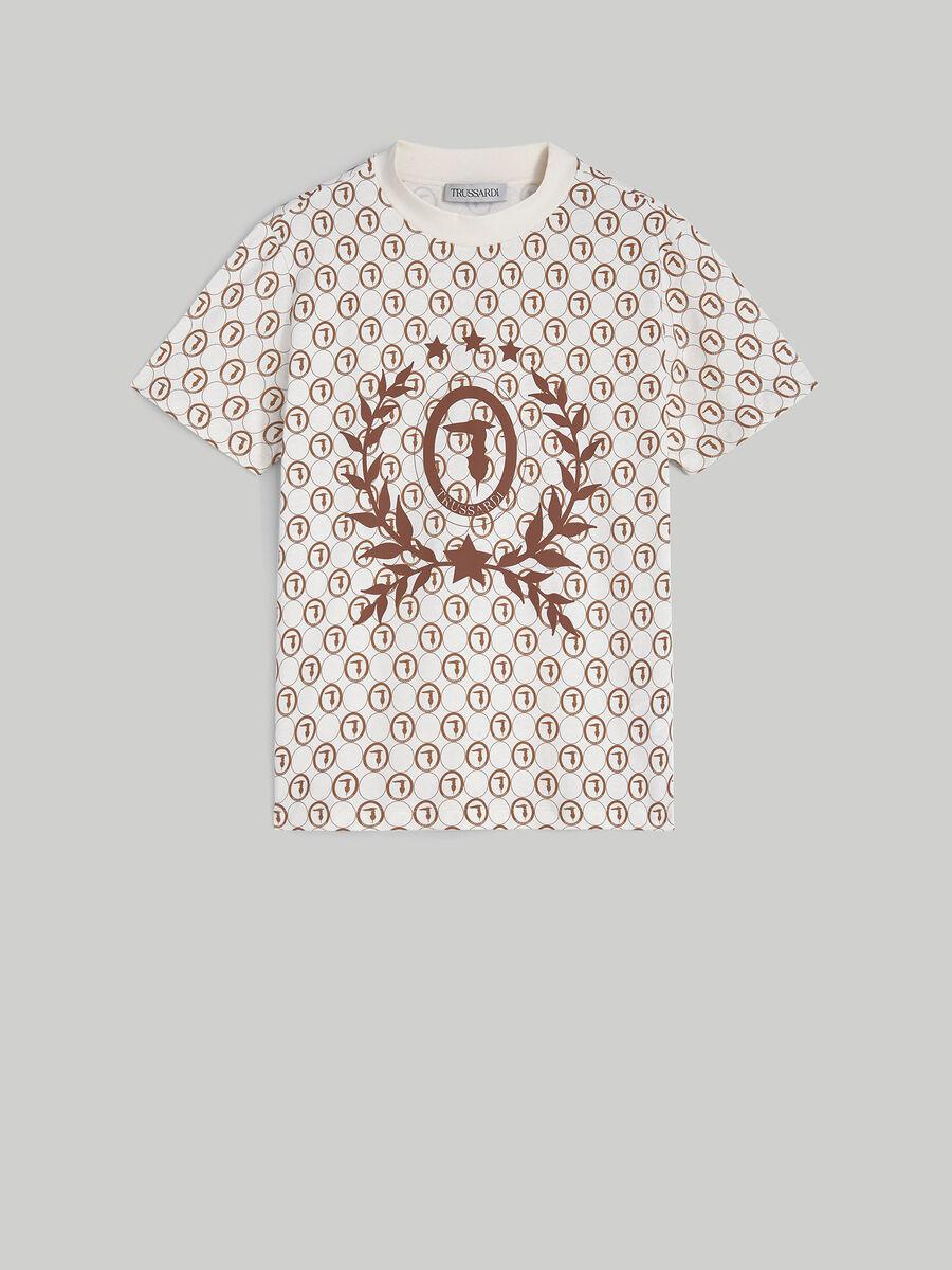 T-shirt boxy fit in puro cotone stampato