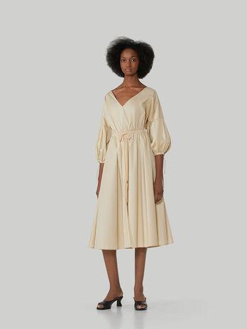 Robe mi-longue en popeline de coton
