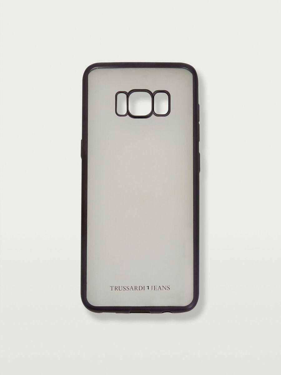 Cover Galaxy S8 morbida trasparente logata