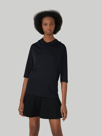 Crepe jersey blouse