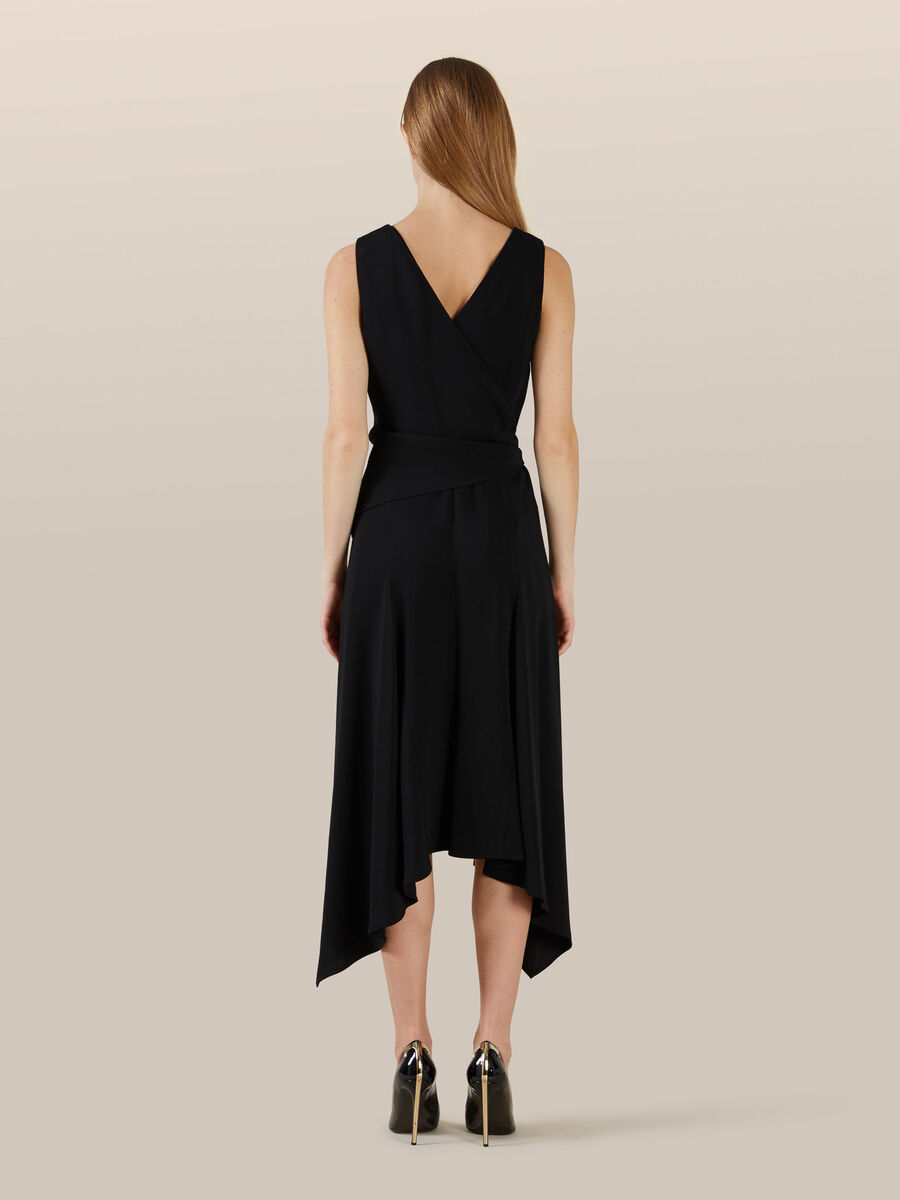 Viscose cady crepe dress
