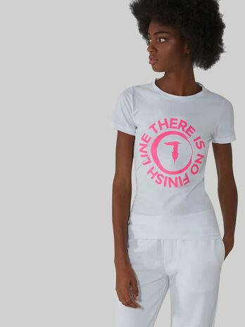 T-Shirt im Slim-Fit aus Baumwollstretch mit Logo