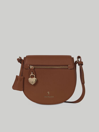Medium crossbody bag in faux deerskin
