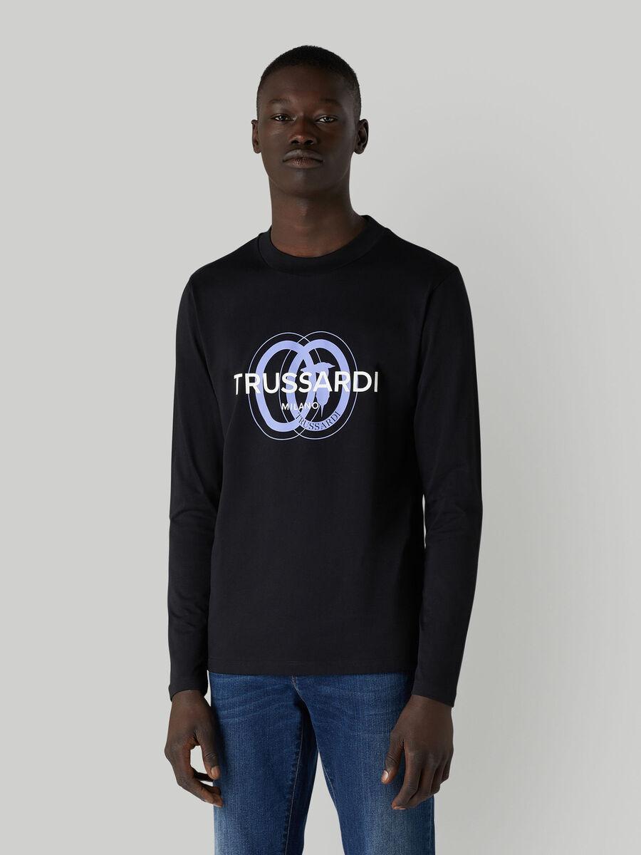 T-shirt a manches longues en jersey