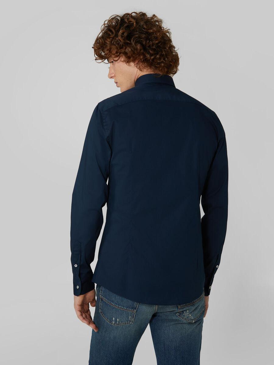 Stretch poplin shirt