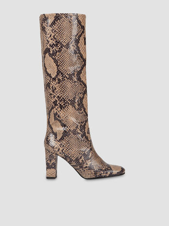 Python print faux leather boots