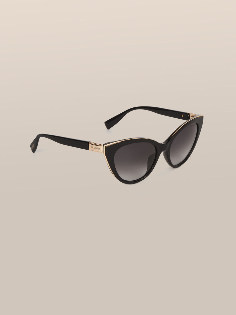 Cat Eye Sonnenbrille aus Acetat und Metall
