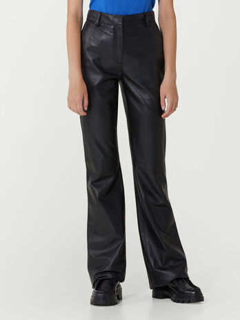 New Bell flared leather trousers