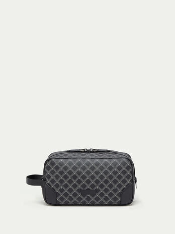Crespo leather Monogram toiletry bag