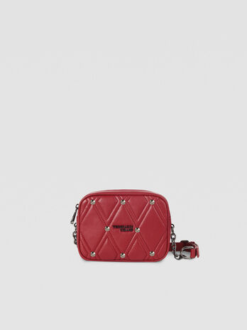 Medium T-Cube Q Cacciatora bag in quilted faux leather