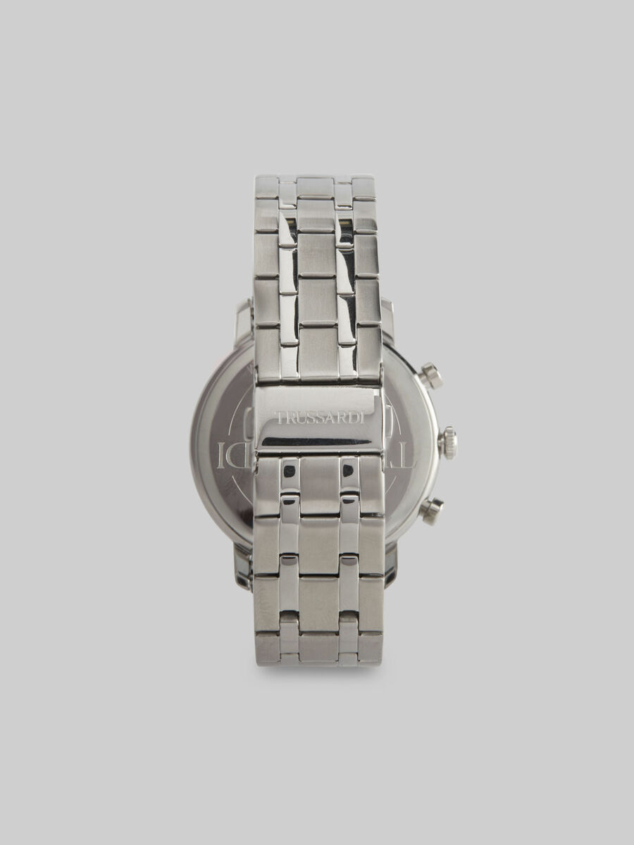 43 MM T-Couple watch with steel strap