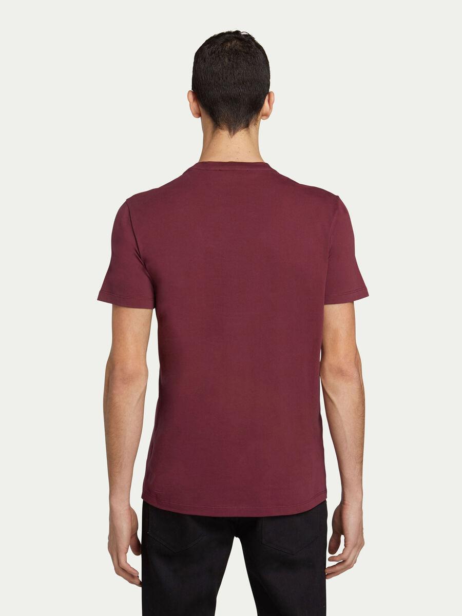 Regular Fit T Shirt aus Baumwolljersey mit Lettering