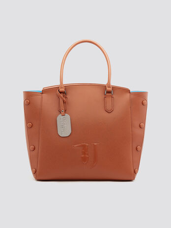 Faux leather Melissa shopping bag with stone details