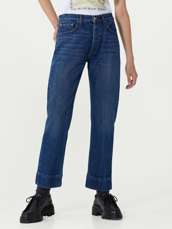 Soft wash denim jeans
