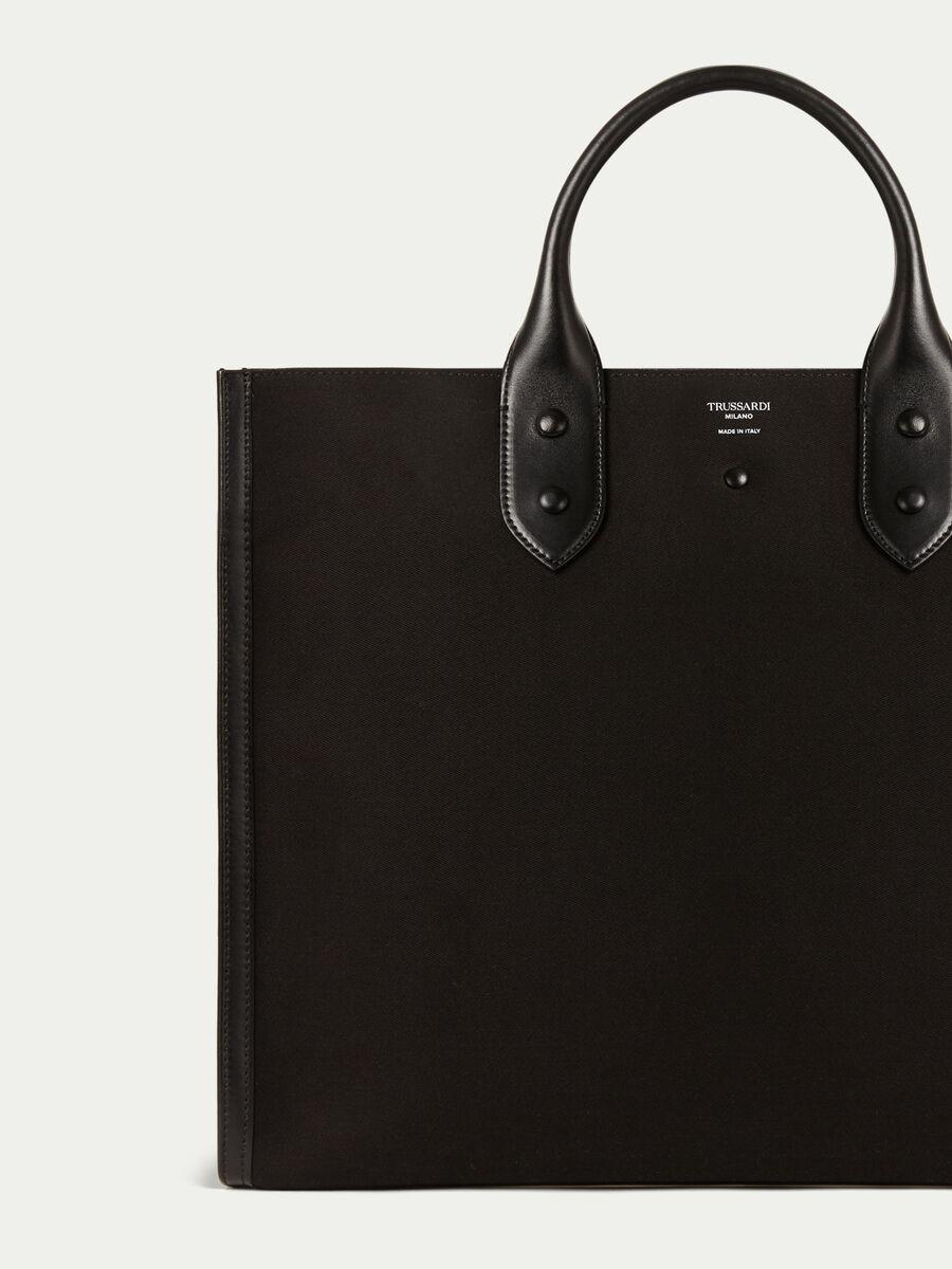 Bolso shopper clean dryllim textile de piel con logo