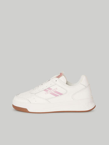 Solid-colour leather Yury sneakers