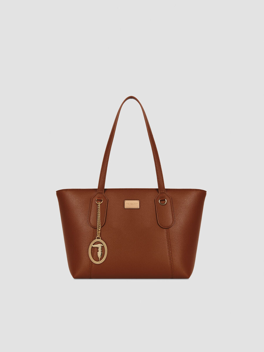 Small faux leather Monaco shopper