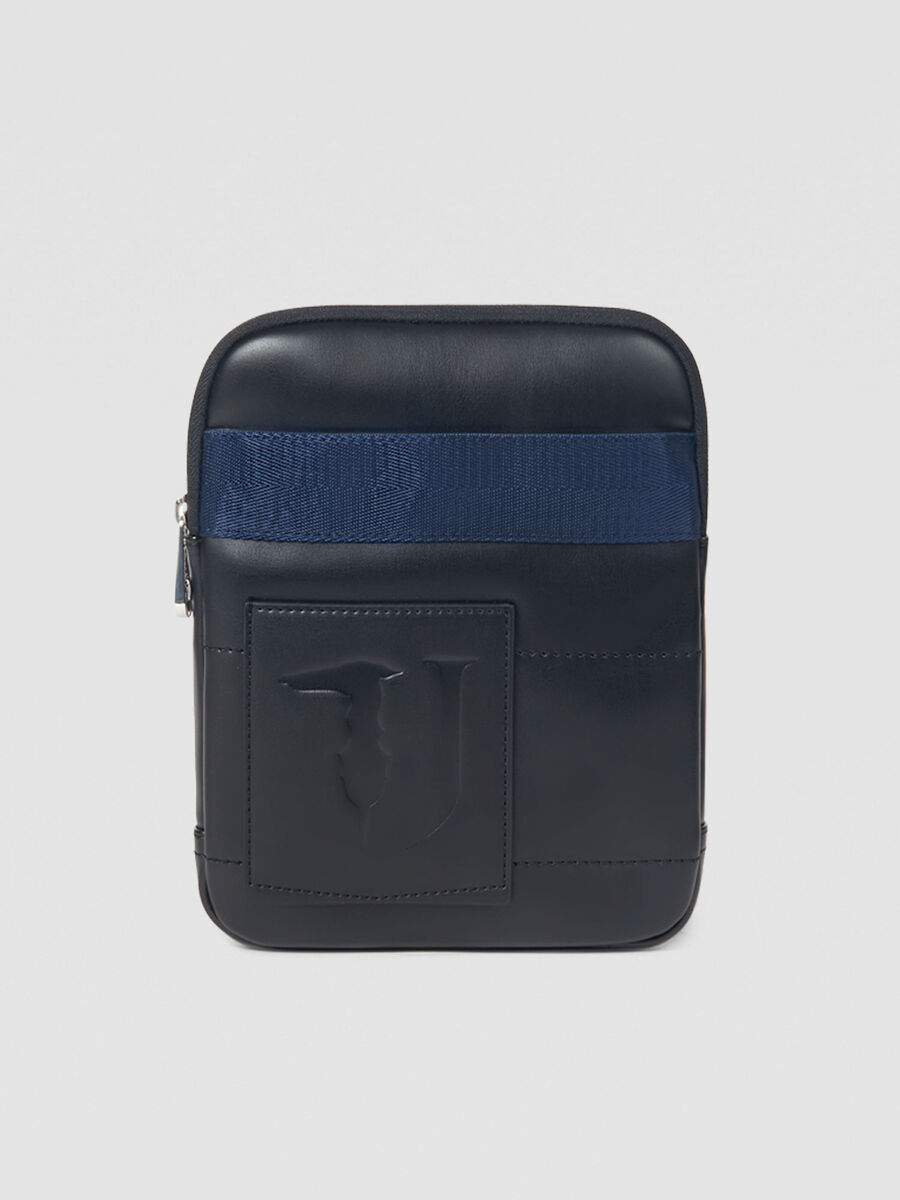 Medium flat Tici crossbody bag in faux leather