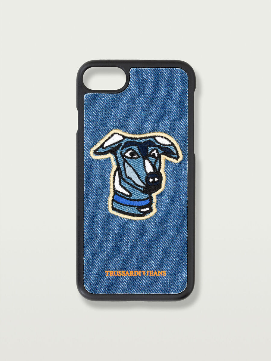 iPhone 7 hard case with greyhound patch