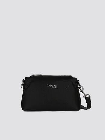 Medium Berry Cacciatora bag in faux leather