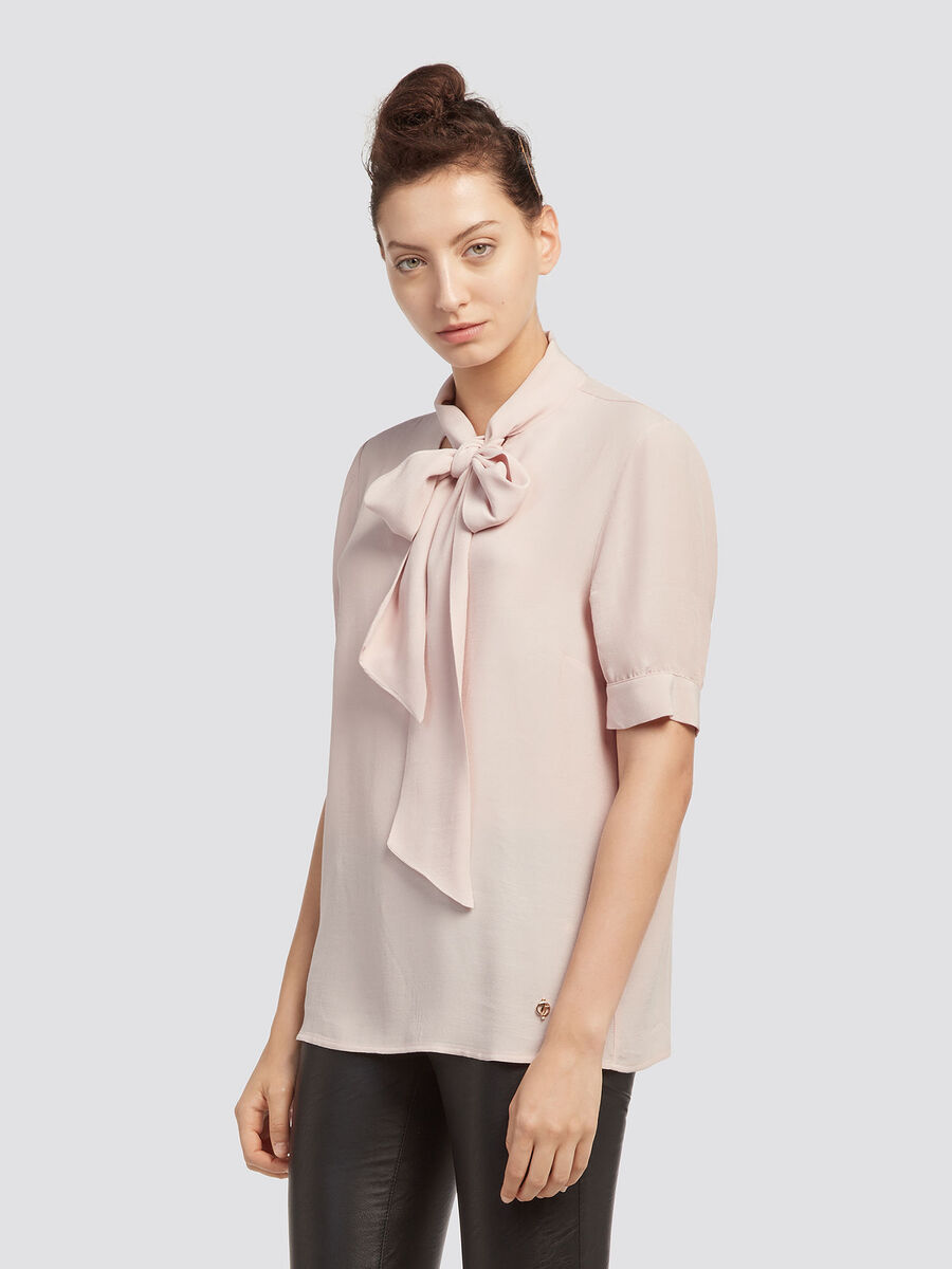 Crepe Blouse With Pussy Bow Trussardi Com