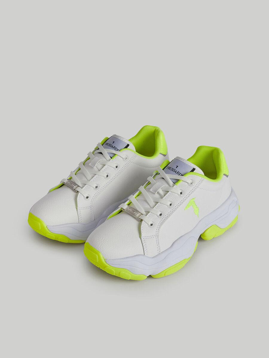 Sneakers Abelia Pop en similicuir color block