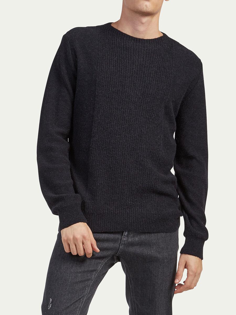 Pullover in misto alpaca regular fit