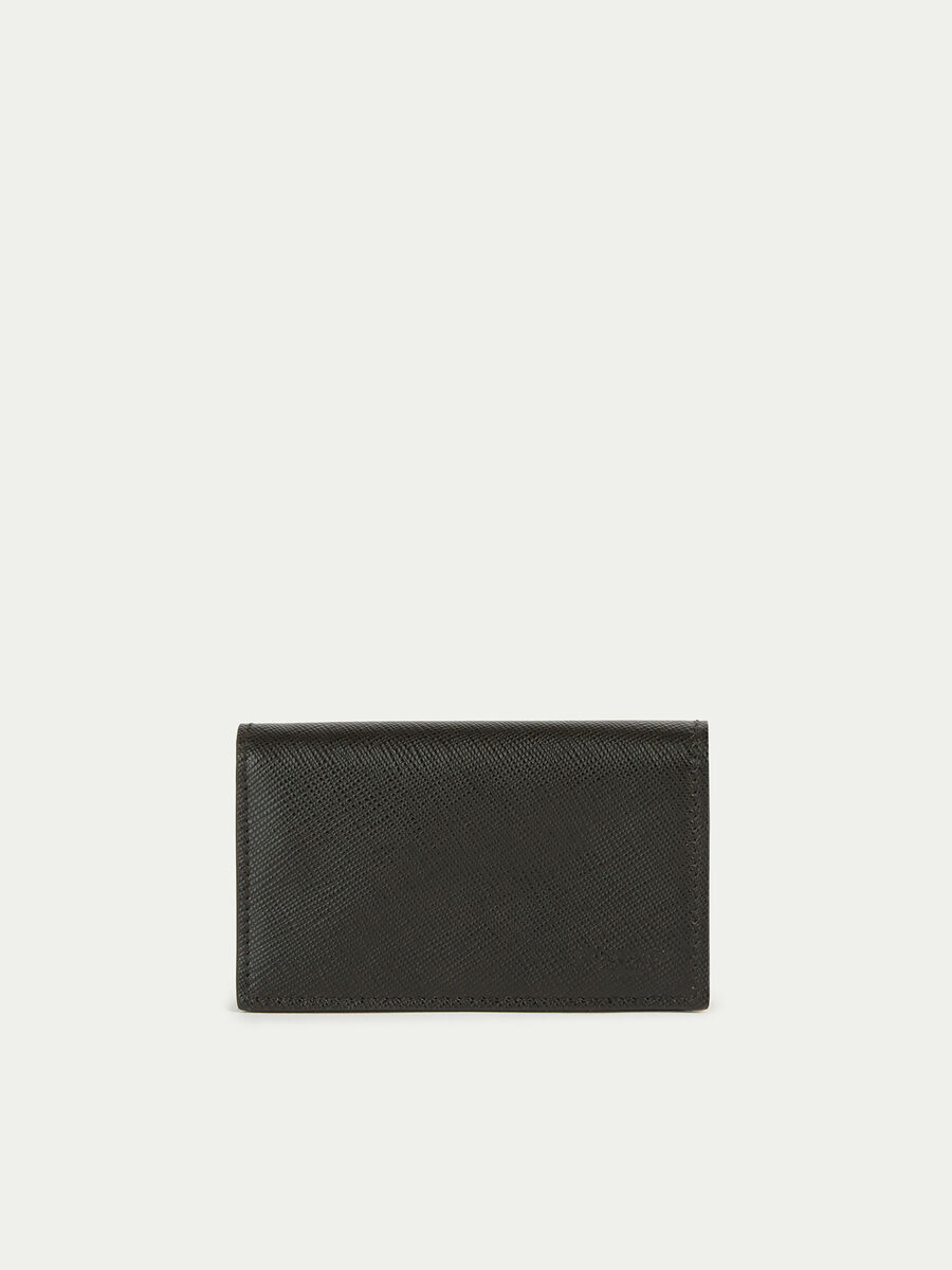 Medium card holder wallet in saffiano leather