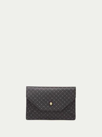 Monogram Crespo leather envelope clutch