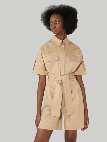 Gabardine playsuit