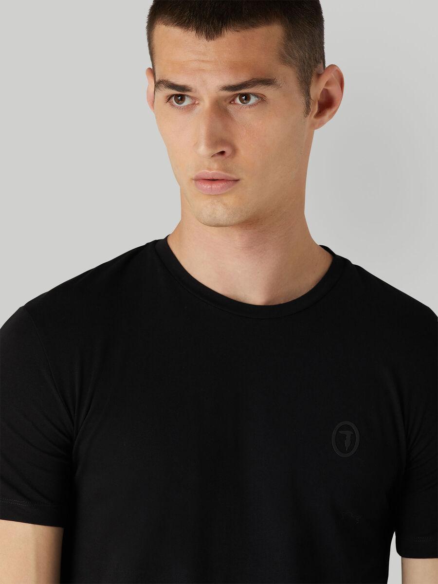 Slim-fit stretch jersey T-shirt