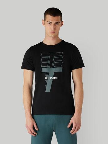 T-Shirt aus Baumwolljersey mit Print