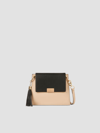 Small Amsterdam crossbody bag in two tone faux leather