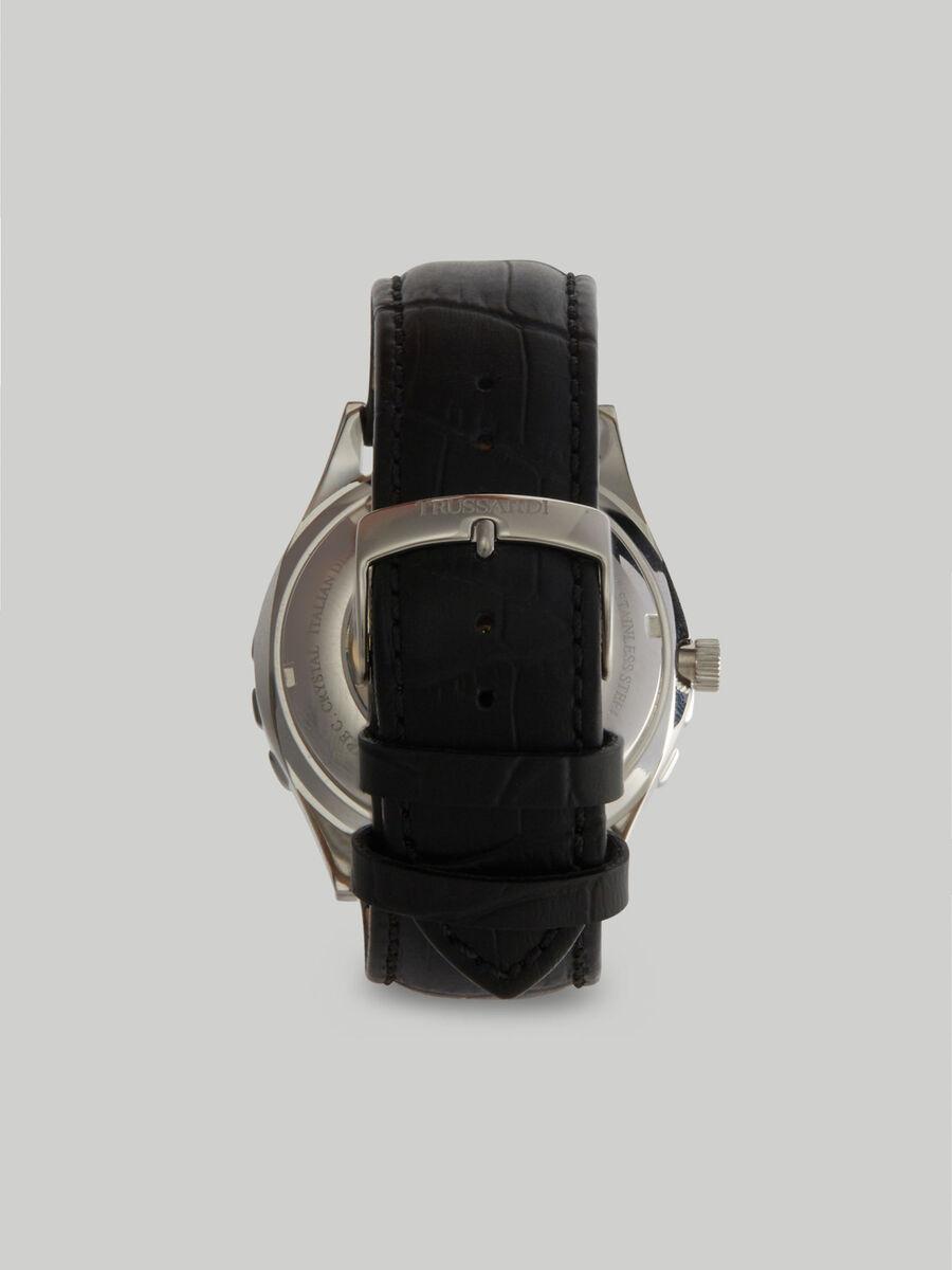 Montre T-Logo 43 MM a bracelet en cuir