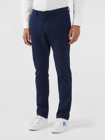 Pantalon coupe aviateur en gabardine stretch
