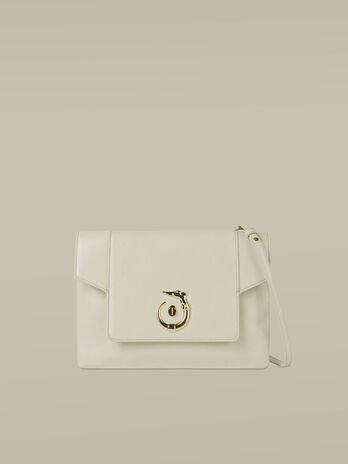 Medium leather Lovy clutch