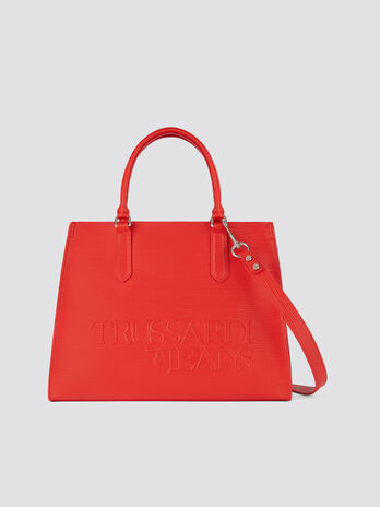 57d8fabb1a Borsa T-Tote large in similpelle con stampa Saffiano