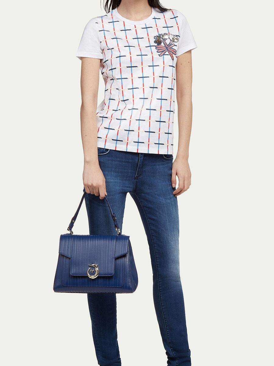 Regular Lovy Bag in striped tresor Calfskin