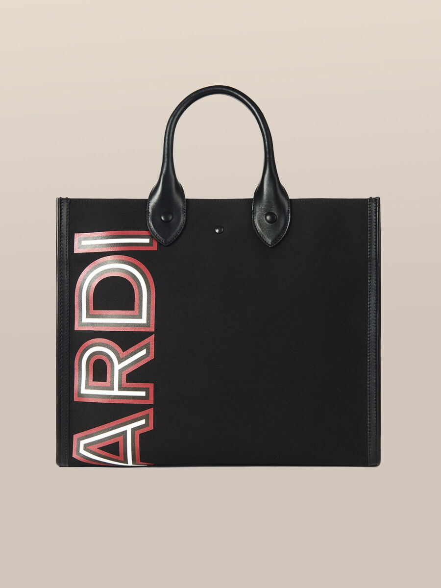 Medium Venezia shopper in fabric and leather