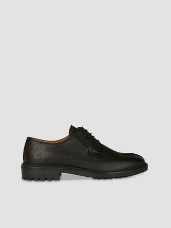 Tumbled leather Derby shoes