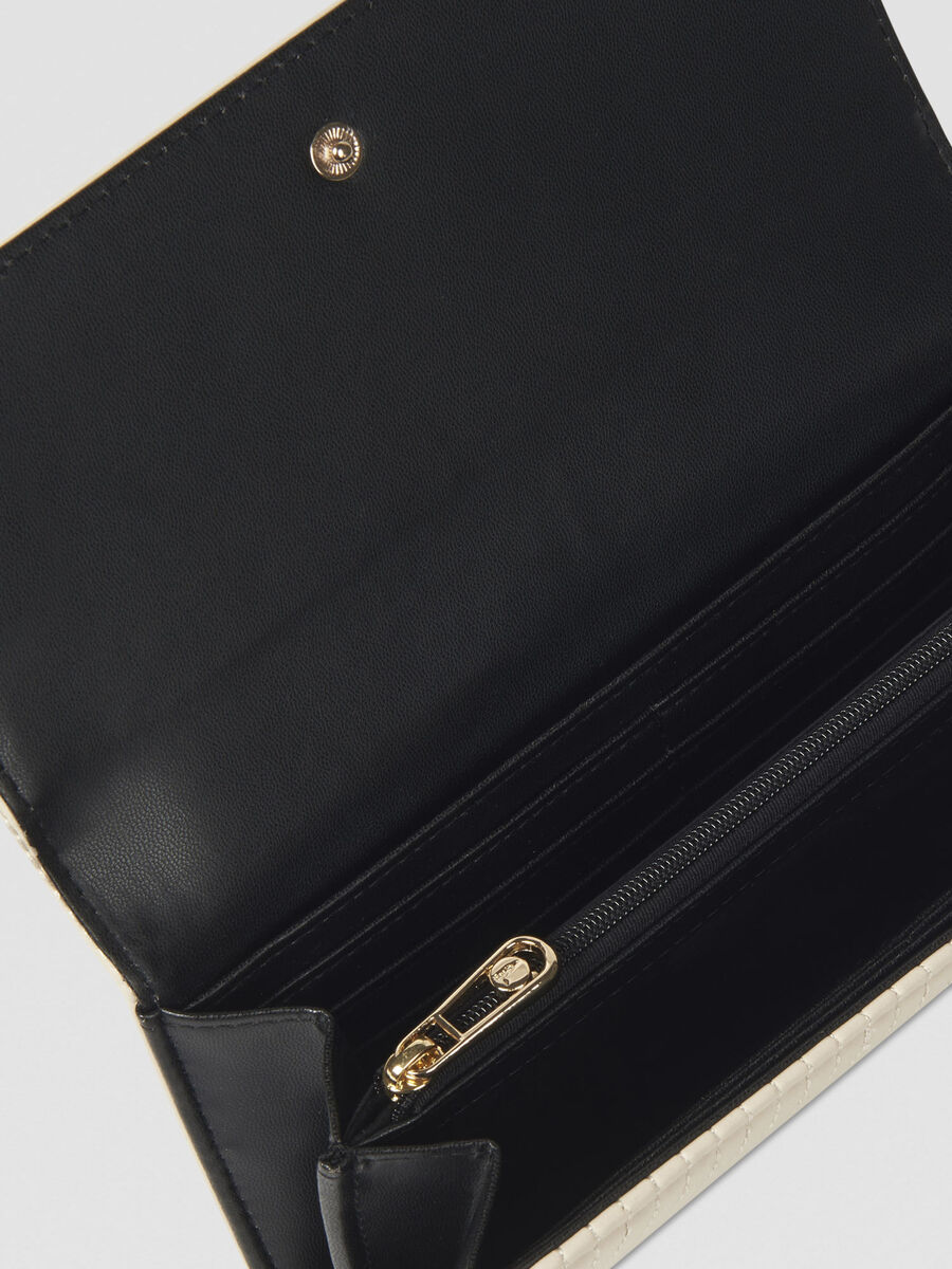 Large Frida continental purse in faux leather