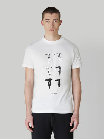 Regular-fit jersey T-shirt with Levriero print