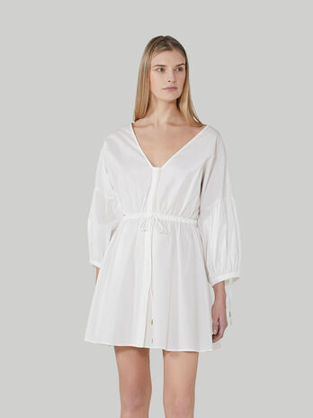 Short cotton poplin dress