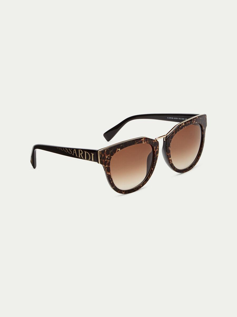 Tortoiseshell sunglasses with logo