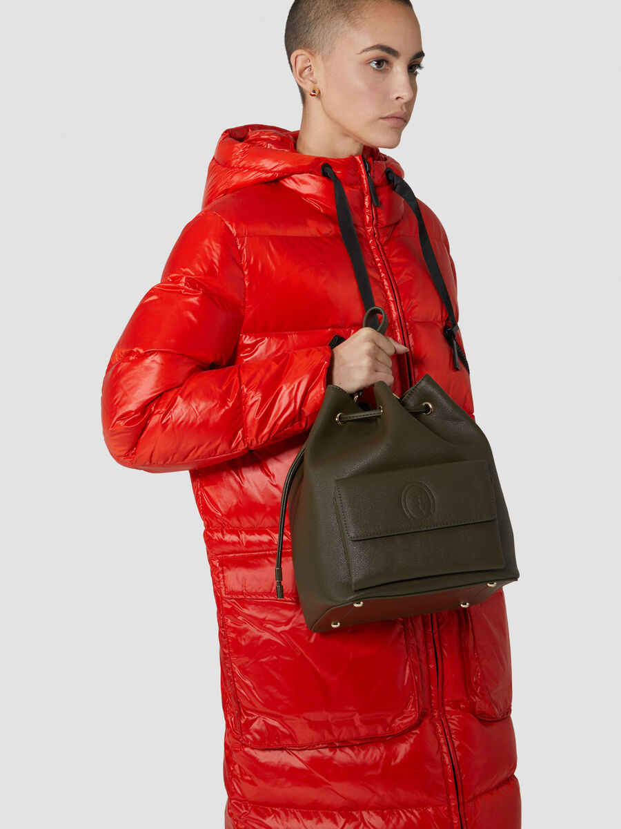 Bolso tipo saco mediano Belgrado de piel sintetica